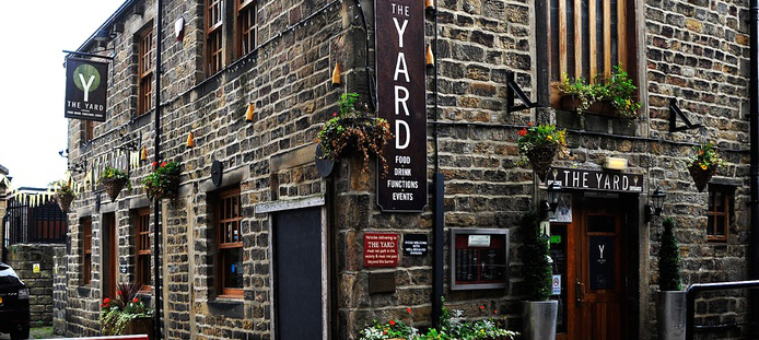 Charge Point mobile phone charging at Twisted Bars - The Yard Ilkley