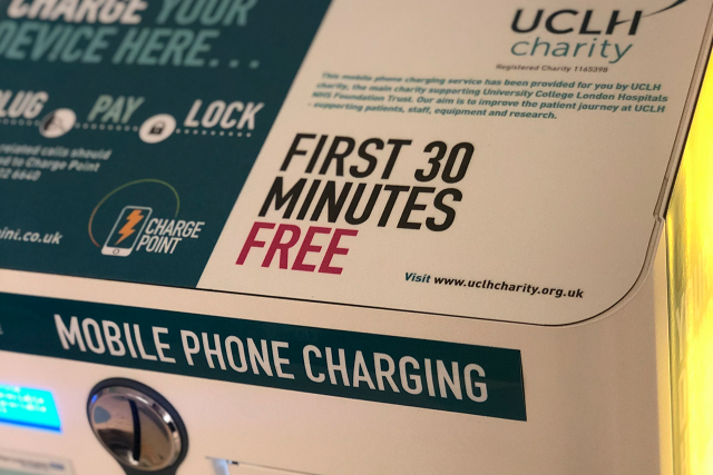 Free Phone Charging for All Patients and Visitors at UCLH